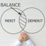 メリットの円とデメリットの円の重なりにあるバランス