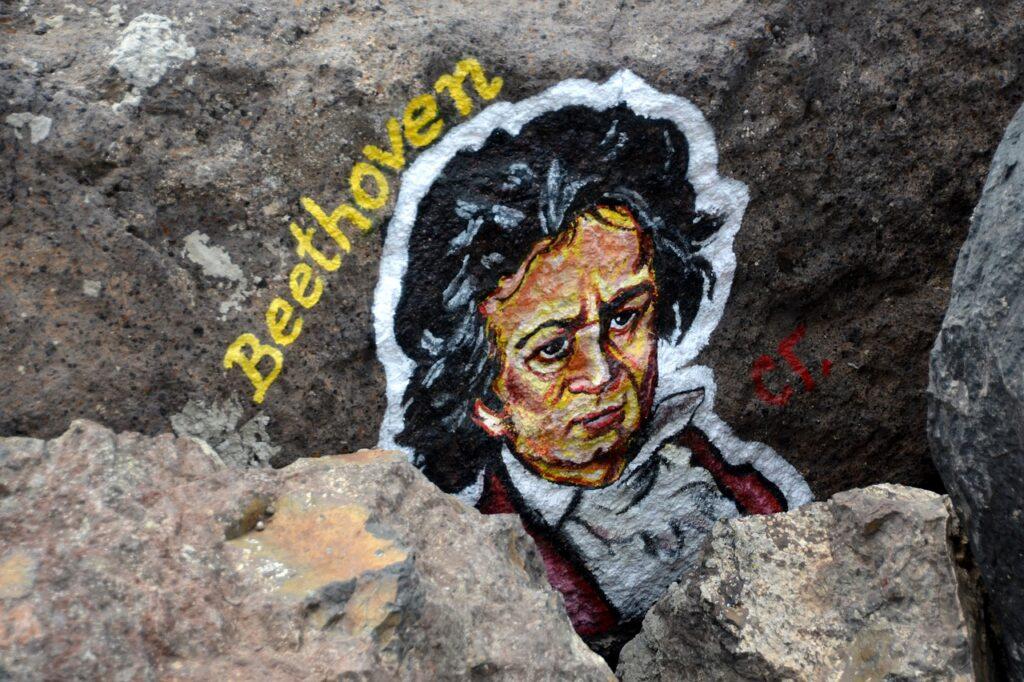 ベートーヴェンが書かれた石