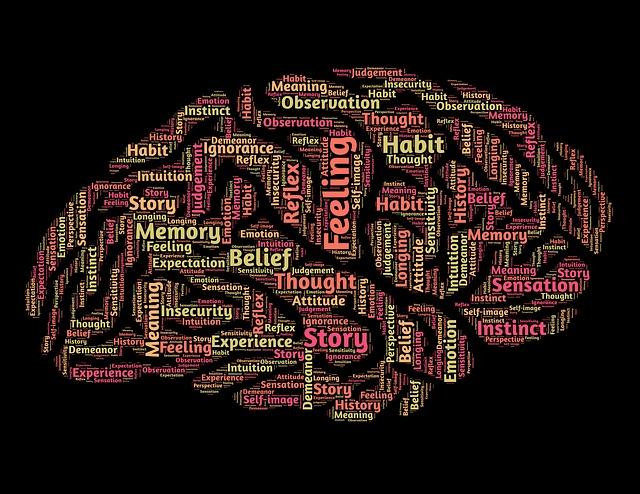 脳の中に書かれた様々な言葉