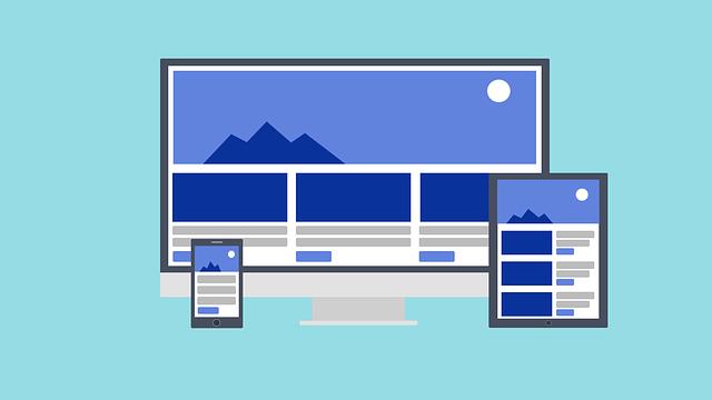 レスポンシブWebデザインのサイト