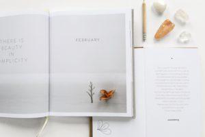 2冊の本とペンと石