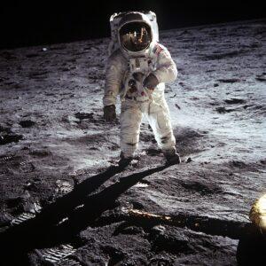 月に降りた宇宙飛行士