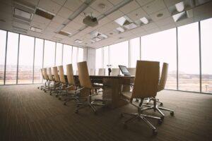 高層階にある会議室